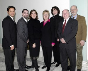 With Sen. Hillary Clinton, Washington, DC.